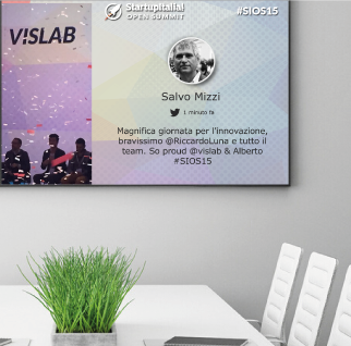 Wallin.tv, digital signage e social wall